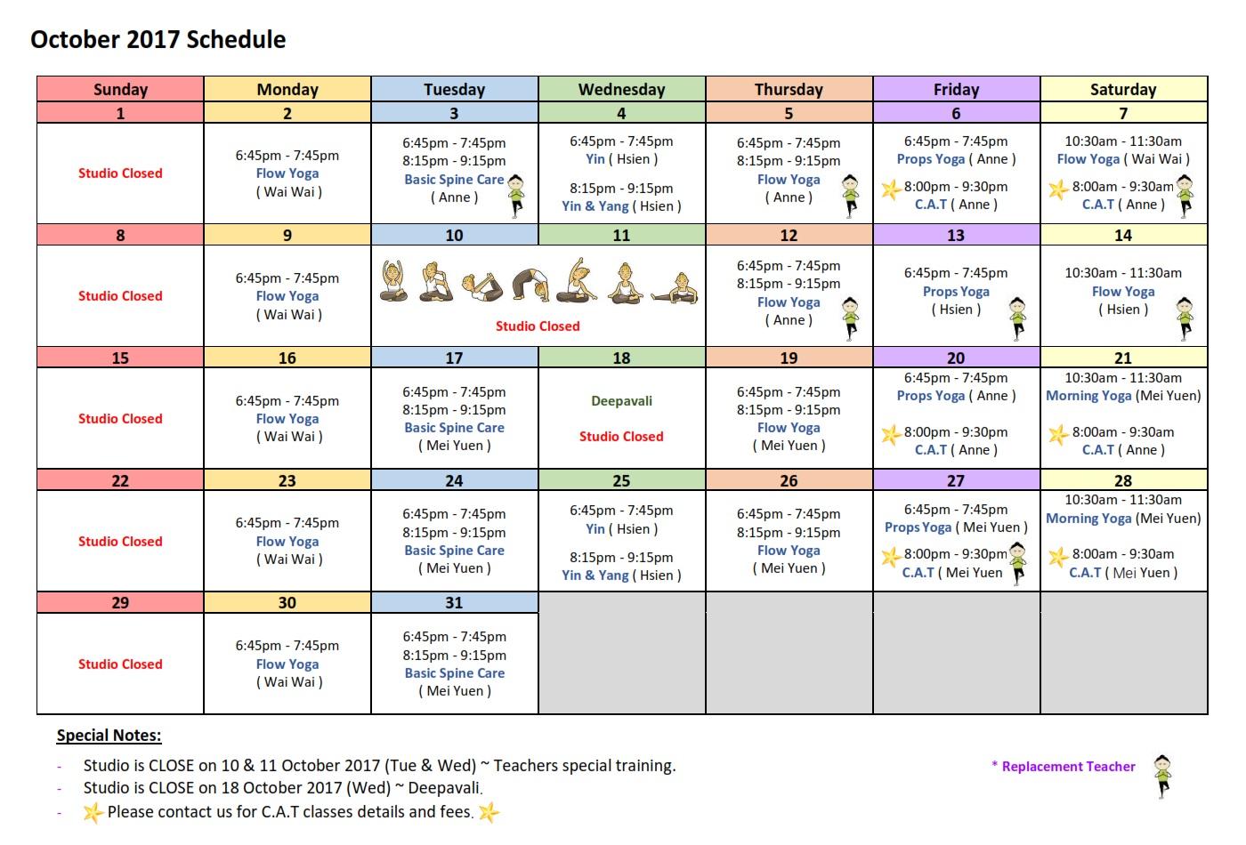 2017-10-schedule